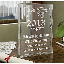 "Personalized "" Class of "" Plaque"