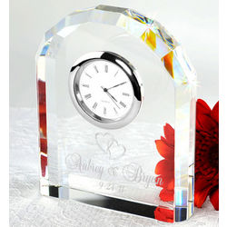 Personalized Our Timeless Love Crystal Arch Clock