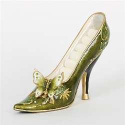 Green Butterfly High Heel Shoe Ring Organizer