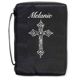Personalized Bible Cover with Rhinestone Cross