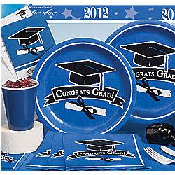 Graduation Party Blue Basic Party Kit