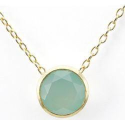 Betty Carre' Simulated Aquamarine Pendant 18K Gold Clad