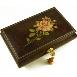 Pink Rose Romantic Music Jewelry Box