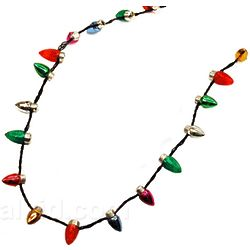 Flashing Christmas Lights Necklace