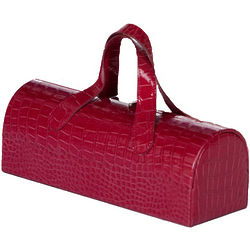 Clutch Wine Bottle Tote in Merlot