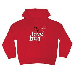 Kid's Personalized Hearts Love Bug Hoodie