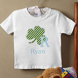 Shamrock Initial for Him Infant T-Shirt