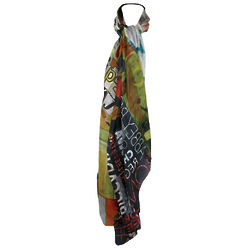 Hand-Painted Peace Works Scarf