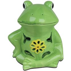 Glowing Solar Frog Figurine