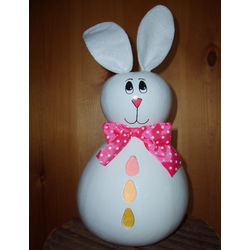Light-Up Bunny Gourd with Easter Eggs