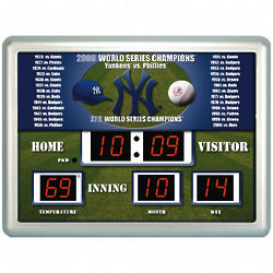 MLB Baseball Scoreboard Wall Clock