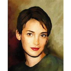 Winona Ryder Oil Painting Art Print