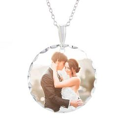 Personalized Color Photo Large Oval Pendant