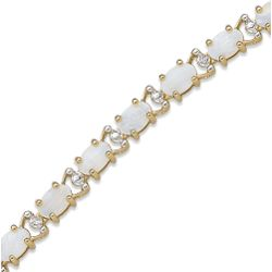 Opal and Diamond Tennis Bracelet