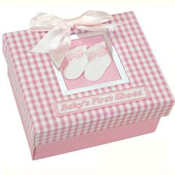 Keepsake Baby Girl Shoe with Box