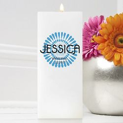 Personalized Square Bouncy Bouquet Friendship Candle
