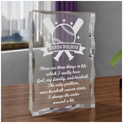 Personalized Baseball All-Star Plaque