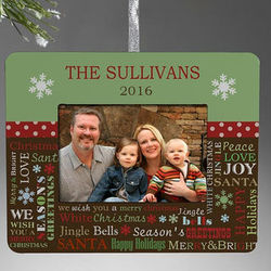 Personalized Christmas Ornament Picture Frame