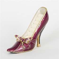 Pink Dragonfly Shoe Ring Organizer