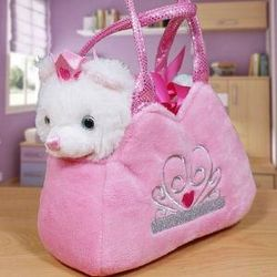 Plush Kitten and Princess Carrier