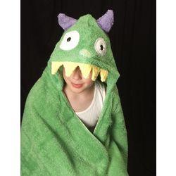 Green Monster Hooded Towel