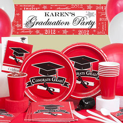 Red Congrats Graduation Kit N Kaboodle Party Set