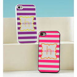 Personalized Modern Stripes iPhone Case
