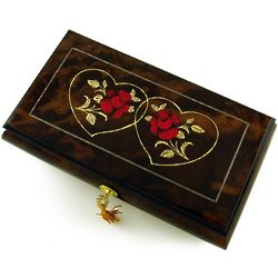 Romantic Red Rose Musical Jewelry Box