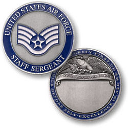 Personalized Air Force Coins