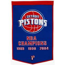 Detroit Pistons Vintage Wool Dynasty Banner
