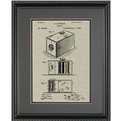 Eastman Kodak Camera Framed Patent Art Print