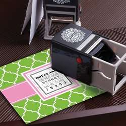 Modern Dot Personalized Self-Inking Stamper