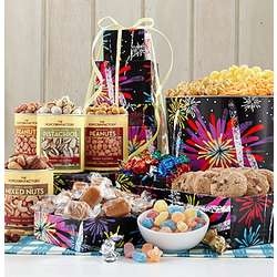 5 Tier Fireworks Popcorn and Sweets Gift tower
