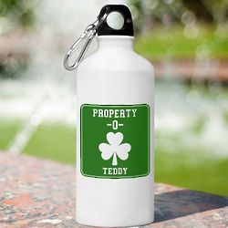Personalized Irish Property Of Water Bottle