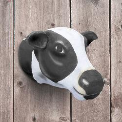 Papier Mache Cow Head