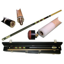 Blazing Black Pool Cue with Flames