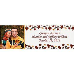 Fall Wedding Custom Photo Banner