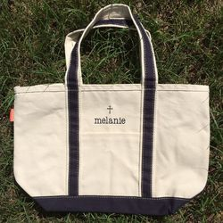 Personalized Canvas Cross Tote Bag