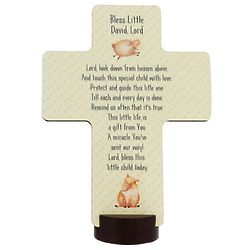 Personalized Bless This Child Standing Lamb Cross