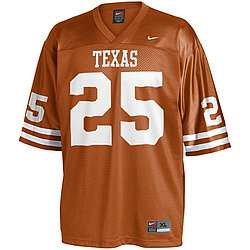 Nike Texas Longhorns #25 Replica Football Jersey