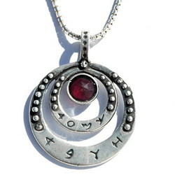 Love Natural Garnet Kabbalah Energetic Necklace