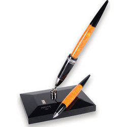 Dolcevita Desk Set Ballpoint Pen in Orange / Black
