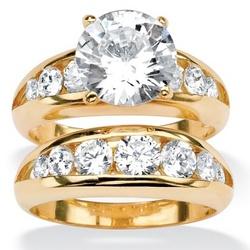 DiamonUltra™ Cubic Zirconia Wedding Ring Set