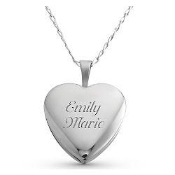 16mm Sterling Silver Heart Locket