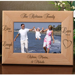 Personalized Live Well, Laugh Often, Love Much Picture Frame