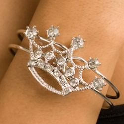 Princess Crown Rhinestone Bracelet