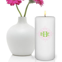 Personalized Round Wistful Monogram Friendship Candle