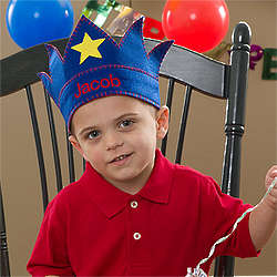 Personalized Birthday Crown for Boys