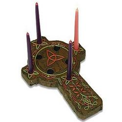 Celtic Cross Advent Holder