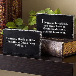 Lawyer's Inspiring Messages Engraved Marble